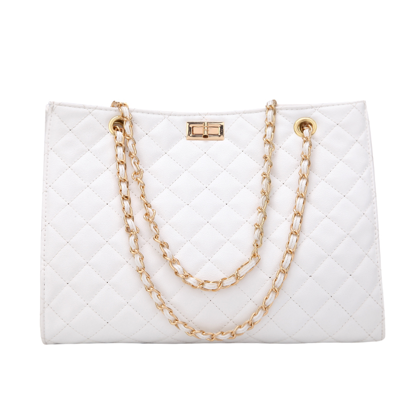 Clearance Sale÷Luxury Handbags Women Bags Designer Leather Chain Large Shoulder Bags Tote Hand Bag Fashion Crossbody Bags For Women 2020 White