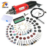 Tungfull Electric Drilling Machine Metalworking Engraver Kit Tools Grinder Flex Shaft Machine Dremel Accessories For Rotary