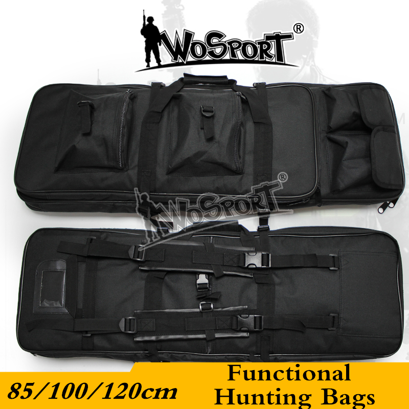 85/100/120cm Functional Hunting Bags 600D Oxford Outdoor Military Tactical Sniper CS War Game Functional Bags Rifle Hunting Bags protective outdoor war game military skull half face shield mask black