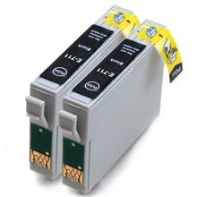Vilaxh 2pcs T0711 Black ink cartridge For Epson Stylus SX210 SX215 SX218 SX115 SX400 SX405 SX410 SX415 SX605 bloom t0711 71 continuous ink supply system ciss for epson stylus sx215 sx218 sx400 sx405 sx410 sx415 sx510w bx600fw bx610fw