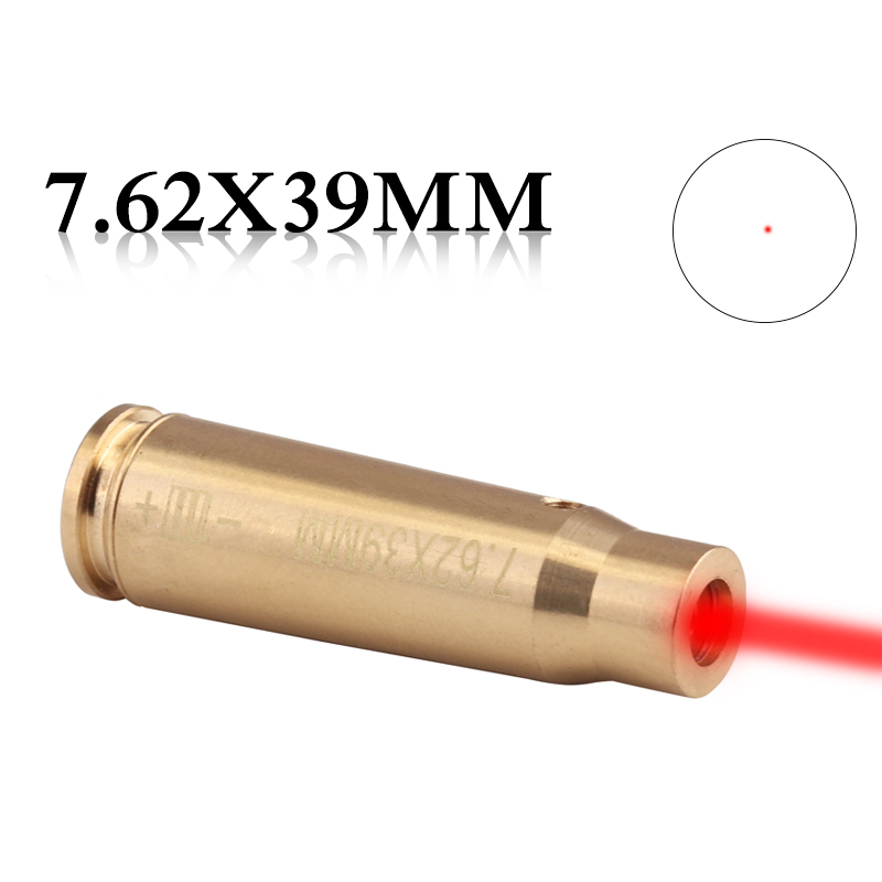 Ledarnell Tactical Accessories CAL 7.62x39 Cartridge Calibration Instrument Red Laser Boresighter Collimator for Hunting Rifle