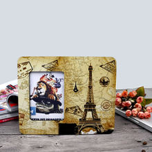 10 pcs/lot sublimation blank DIY Wooden photo frame for pictures MDF OEM frame hardboard photo gift painting print decorative(China)