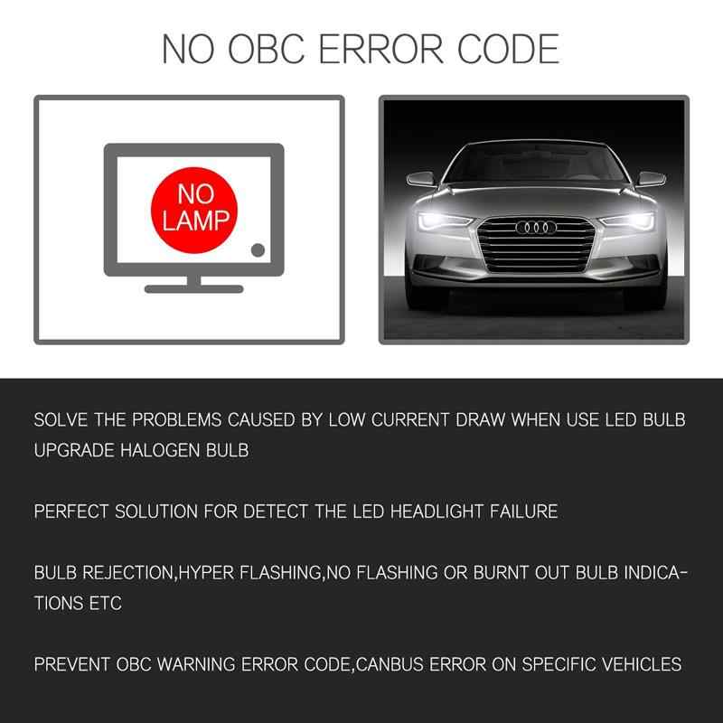 Oslamp Free Error Canbus Decoder for Car Led Headlights H4 H7 H11 H8 H9 H13 9005/HB3 9006/HB4 Decoder for Led Fog Lamps Bulbs
