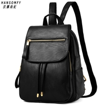100% Genuine leather Women handbags 2019 New Female backpack spring and summer student fashion casual Korean version of the