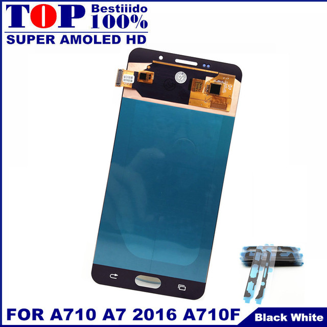 Sensor Replacement LCDs For Samsung Galaxy A7 2016 A710 A710F A710M AMOLED Phone LCD Display Touch Screen Digitizer Assembly