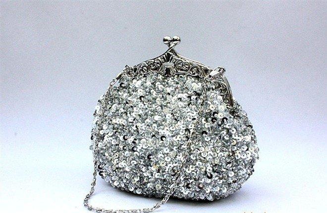 women Designer Frame Beaded Sequins evening Handbag Sparkling Luxury diamond  decrative bridal Purse-in Clutches from Luggage   Bags on Aliexpress.com ... 928de3733127