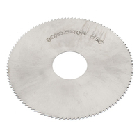High Speed Steel 108T Slitting Saw Blade 80mm x 0.5mm x 22mm