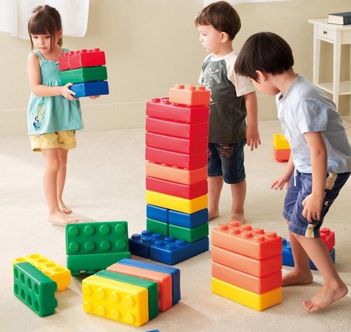 45Pcs/Set Educational STEM Toys Jumbo Building Blocks Bricks Enlighten Toys  for Children Toddler