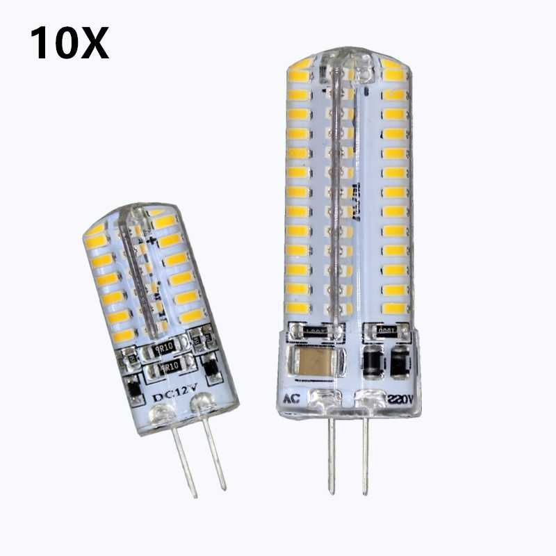 10pcs G4 LED bulb  DC12V 24 48 96 104  Instead of 15W-30w halogen lamp 360 degree saving light Crystal light Energy saving lamp