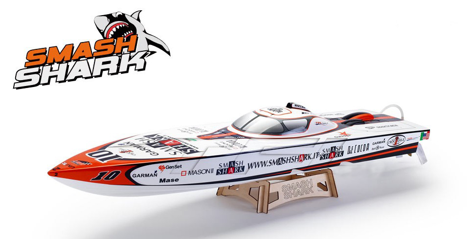 Smash Shark P1 Electric Brushless Racing Boat 1125 with 3660 KV2070 Motor 120A ESC