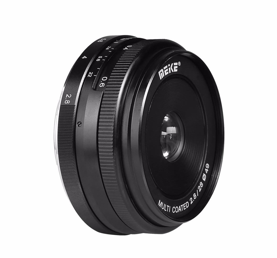 Meike MK-EF-M-28-2.8 28mm f/2.8 objectif de mise au point manuelle fixe pour Canon EOS M1 M2 M3