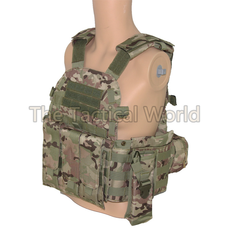 Hunting CS Combat Vest Military Army Hiking Outdoor Protective Airsoft Camouflage Multicam Molle Breathable Can Put Plate Vests