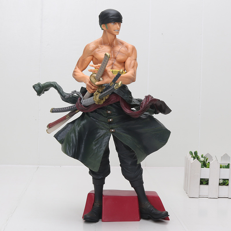 Anime One Piece Roronoa Zoro Big Size 30cm PVC Action Figure Resin Collection Model Doll Toy