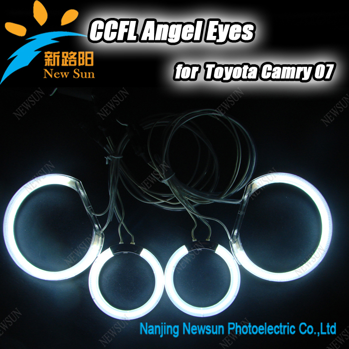 Super Bright CCFL Angel Eyes Kit for Toyota Camry 2007 with Halo Rings and Waterproof Inverters