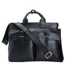 Genuine Leather Men Messenger Bags Business Leather Laptop Bag Men Bag Men's Briefcase Tote Shoulder Laptop Men's Travel Bag