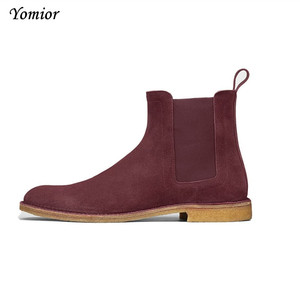 Image 3 - أحذية رياضية كاجوال كلاسيكية مصنوعة يدويًا للرجال مصنوعة من قماش تشيلسي أحذية ربيعية من Kanye West مناسبة للحفلات والزفاف