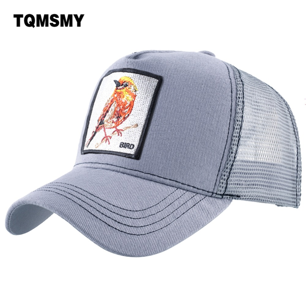 TQMSMY High Quality Cotton Cap For Men And Momen Trucker Hats Gorras Snapback Caps Bird Baseball Caps Male Visor Summer Cap DHN