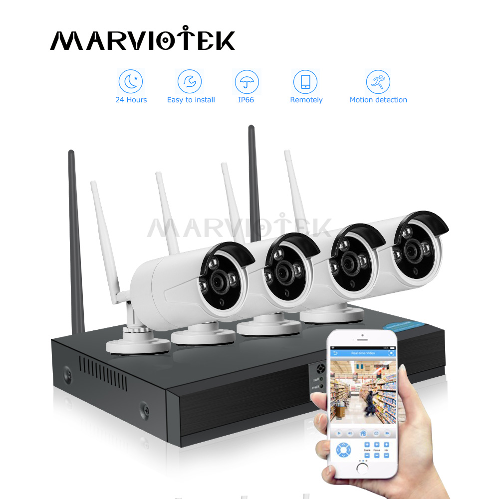 4CH cctv camera system wireless 1MP Waterproof Indoor/Outdoor ip camera wifi nvr kits Wifi security camera system Home Security4CH cctv camera system wireless 1MP Waterproof Indoor/Outdoor ip camera wifi nvr kits Wifi security camera system Home Security