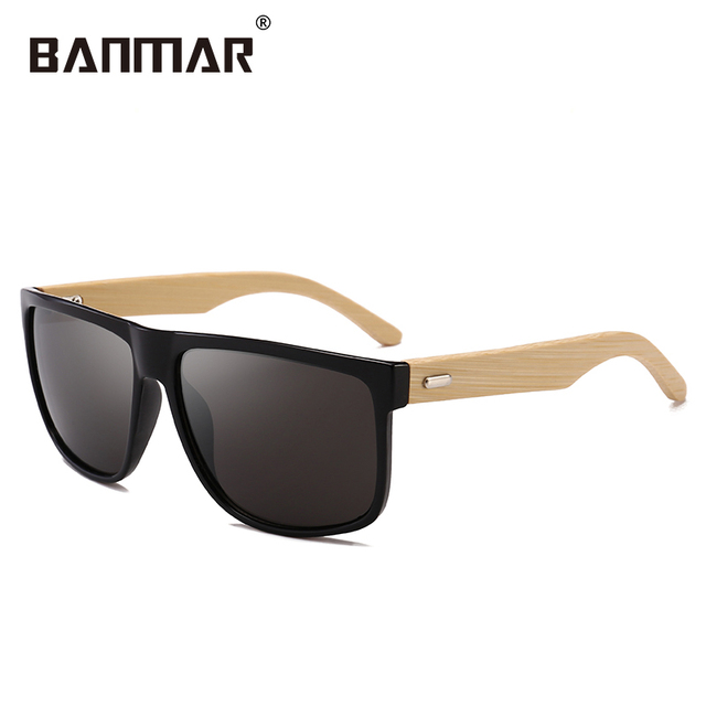 fa0877c6e1 Unisex Brand Designer Men Women Wooden Sun Glasses Retro Vintage Square  Frame Mirror Sunglasses Summer Bamboo Driving Glasses