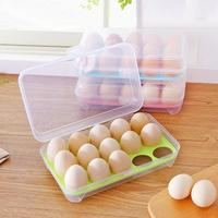 1 Pcs Egg Refrigerator Egg Storage Box Case 15 Eggs Holder Food Storage Container Picnic