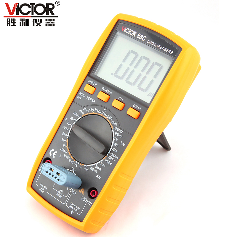 ФОТО 1pcs Victor VC88C Multimeter Professional Manual Range 2000 Counts 20A 1000V Resistance Capacitance Inductance Temperature