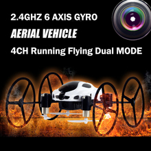 Multi-function RC Car Drone 318B Quadcopter 4CH 2.4G 6 AXIS GYRO RC Remote Control Flying Running drone with HD Camera