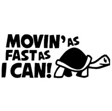 цена на 20*8CM MOVIN'AS FAST AS I CAN Funny Car Personality Reflective for  Car Stickers Decals Bumper Sticker Silver CT-421