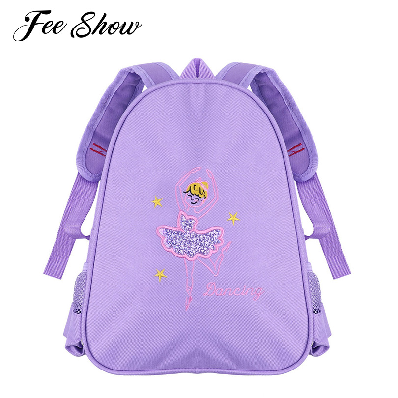 Kids Girls Lovely Ballet Bag Students School Backpack Princess Girls Ballet Dance Bag Embroidered Ballerina Dancing Shoulder Bag