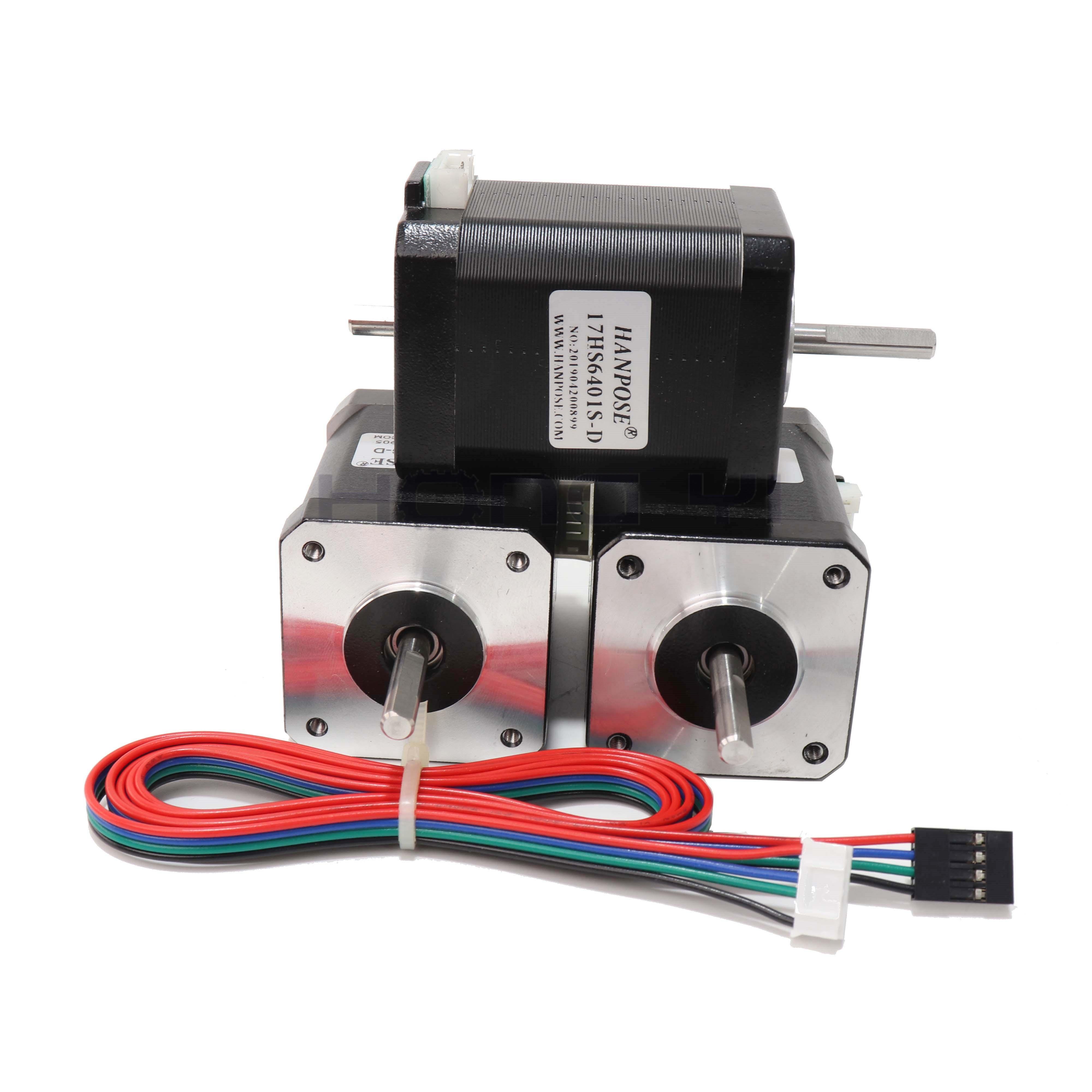 Image 4 - Free shipping hybrid stepper motor nema 17 motor 60mm (1.7A, 0.73NM, 60mm, 4 wire) 17HS6401S for 3D printer cncStepper Motor   -