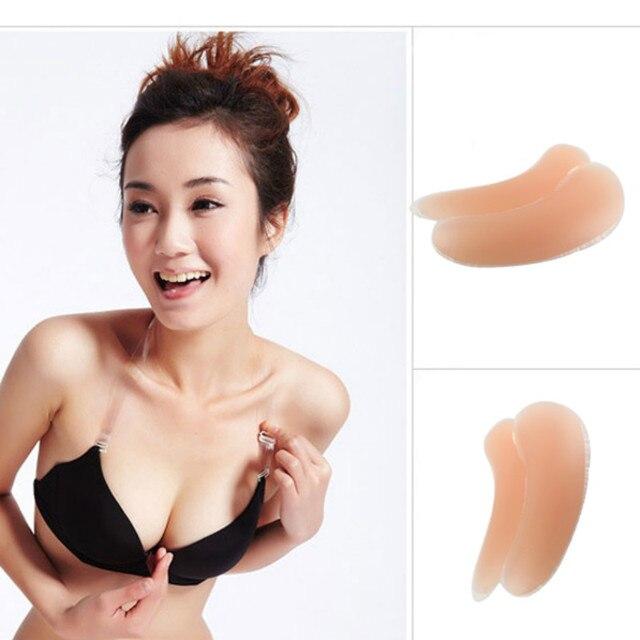 922e3448cf Silicone Gel Bra Pads Inserts Pad Women Push Inward Up Breast Underwear Push  Up Bikini Enhancer Swimsuit Invisible Pad