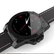 Luxus Tragbare Geräte Smart Lederband Uhr Smartwatch Sport Schrittzähler Kompass Digital-Uhr Reloj Inteligente