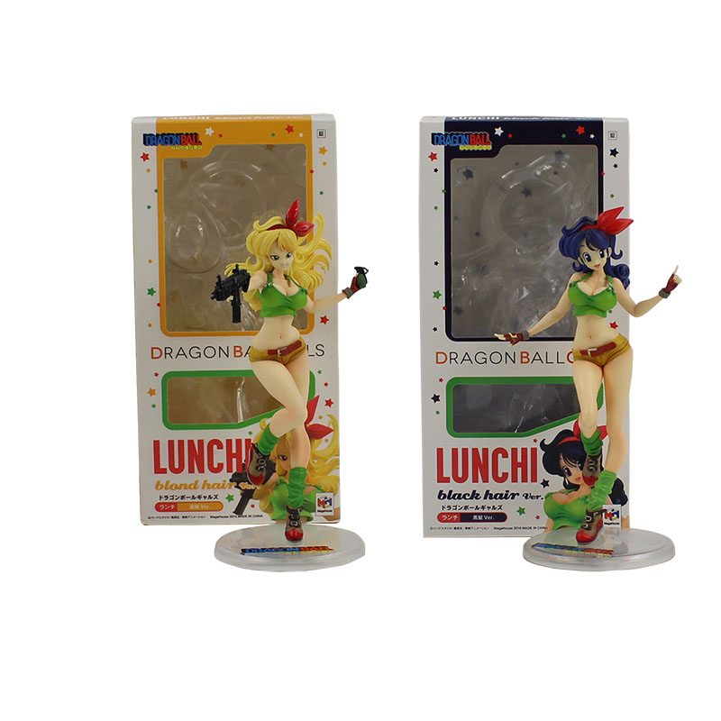 19cm Launch 2 styles yellow hair and blue hair cool <font><b>action</b></font> <font><b>figure</b></font> model toy Lunchi Hot Anime <font><b>Dragon</b></font> <font><b>Ball</b></font> Gals Lunch <font><b>sexy</b></font> model image