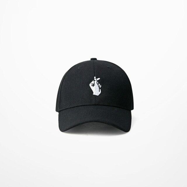 bd019c4f071 Korean I Love You Gesture 6 Panels Hat Hip Hop Streetwear Baseball Cap  Curved Brimmed Summer Headwear Street Fashion Sun Hats