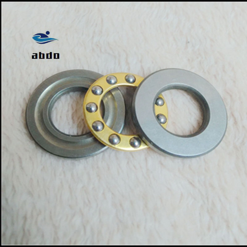 5 x 10 x 4mm Steel 3-Parts Axial Thrust Ball Bearing Model F5-10M Set of 10