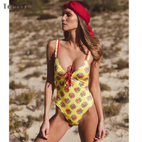 2018 Sexy One Piece Swimsuit Women Swimwear Push Up Monokini Padded Swim Suit Bandage Bodysuit Bathing Suit Summer Beachwear 3
