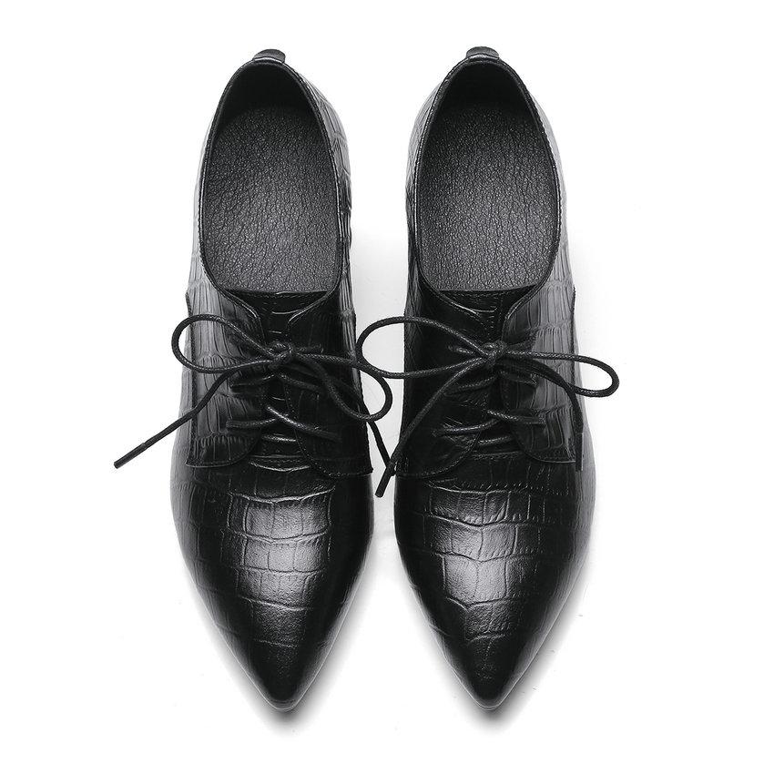 34 Negro Patchwork Tacón Boda Alto Señoras 39 De Genuino Cuadrado Zapatos Mujeres Tamaño Encaje Punta Cuero 2018 Bombas Dedo Elegantes Hasta Vinlle q4HwPH