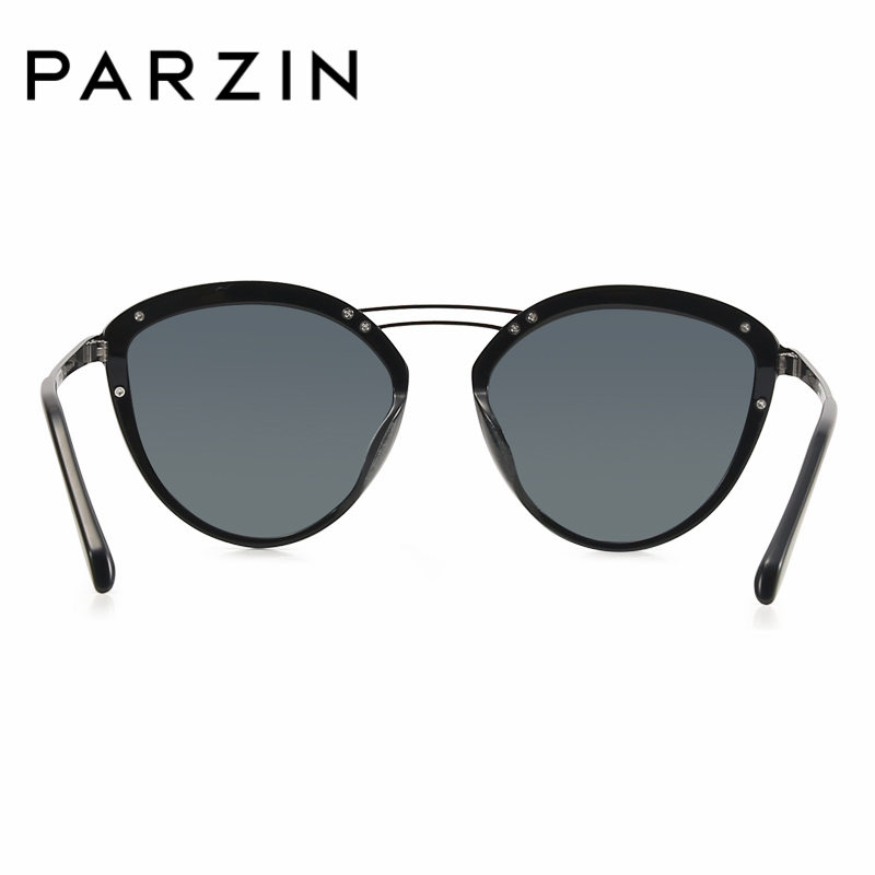 Brille Sonnenbrille Floral Accessorie9755 Querträger Für tortoiseshell Mode Black Polarisierte Fahrer Luxus Parzin Frauen Hohl gray Marke Designer ZwqE87