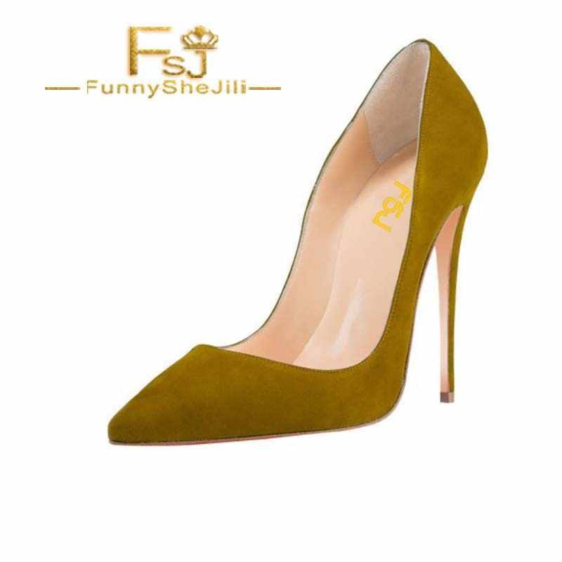 Women's Olive Green Stiletto Heels