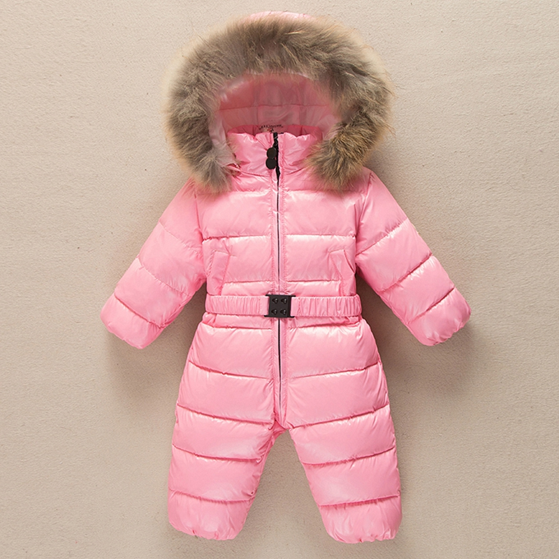 Warm Romper  Toddler Hooded Overalls Bright Down Jackets Snowsuit Padded suits