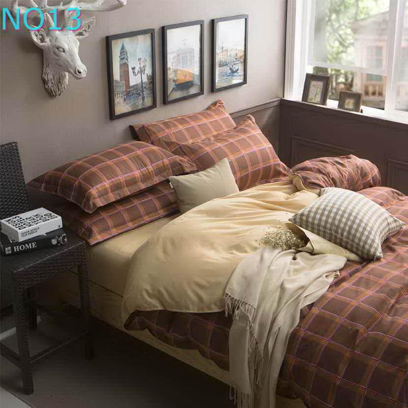 Красивые Облака Стиль хлопковый комплект постельного белья, постельное белье набор 3/постельного белья из 4 предметов, комплект с надписью «розовый», цвет бел - Цвет: Оранжевый