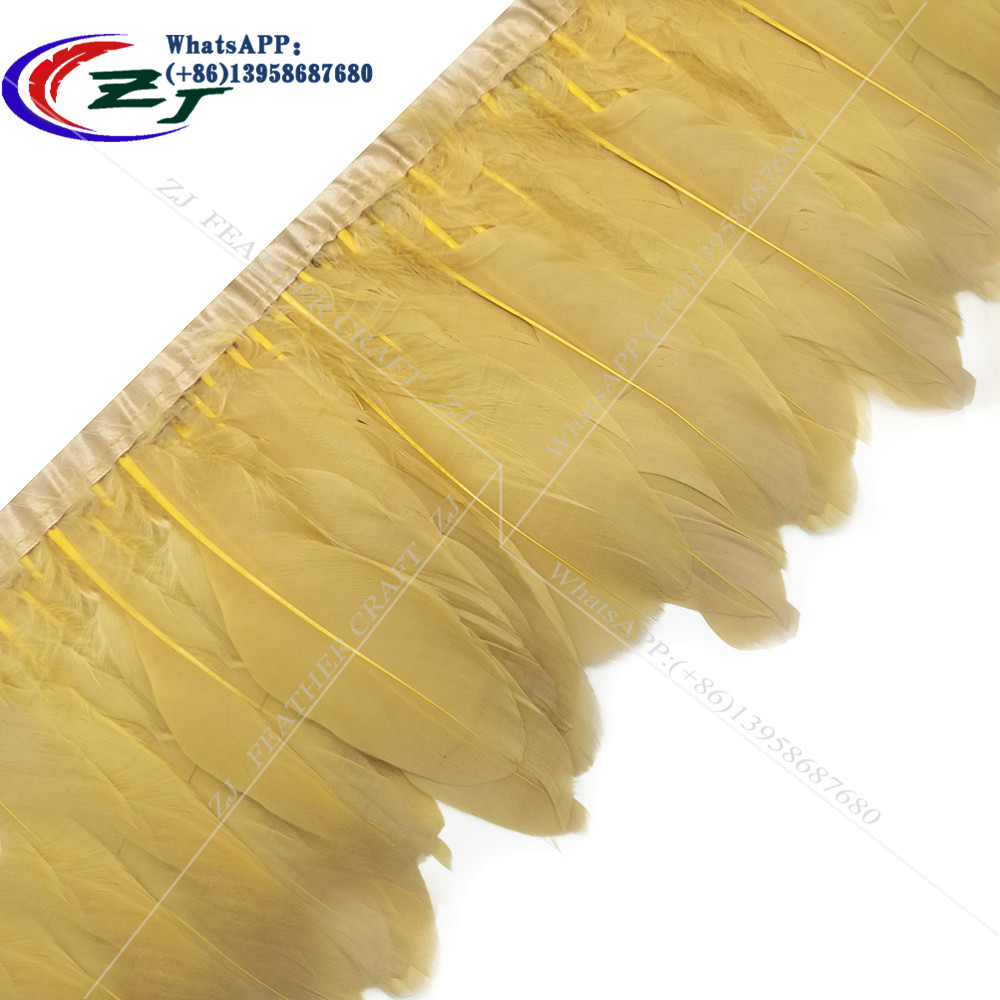 10 Yards 15-17cm 20Color Natural Goose Feather Trim Bride Wedding Party Decoration Feather Ribbon Fringe DIY Clothes Accessories