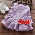 Fashion Girls Summer Clothes Cotton Full Sleeve Multicolor Soft Comfortable Dress For Baby Girls Casual O-neck A-line Dress