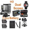 H3 4K 25FPS ultra SJ plus Cam WIFI Upgrade Action cam H8se mi two double dual screen h3r xiao go yi Sport sj pro 4 hero Camera