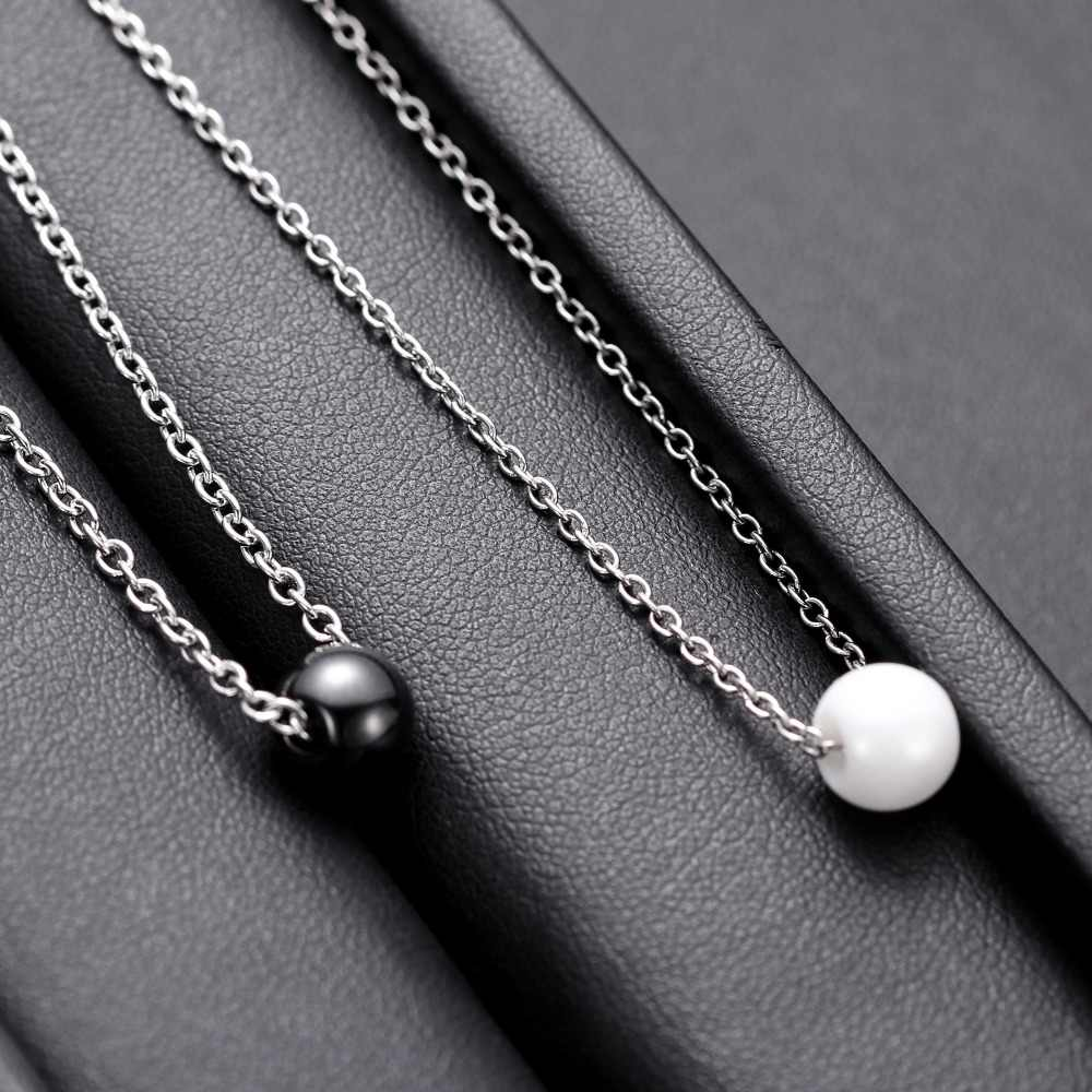 2019 New arrival Ceramic Bead Necklace With Stainless Steel chain for Women Wholesale Ladies Gift Beaded Ceramic Necklaces