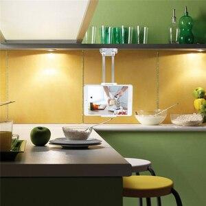 "Image 5 - 2 in 1 Wall Desk Kitchen Tablet Mount Stand Flodable Aluminum Alloy Desktop Lazy Holder Support For iPad Samsung 4 10.5"" Tablet"
