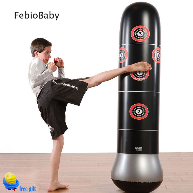 Portable Indoor Outdoor Inflatable Boxing Column Toy For Adult Kids Training Tool Free Pump Kicking Punch Bag Not Fall Down