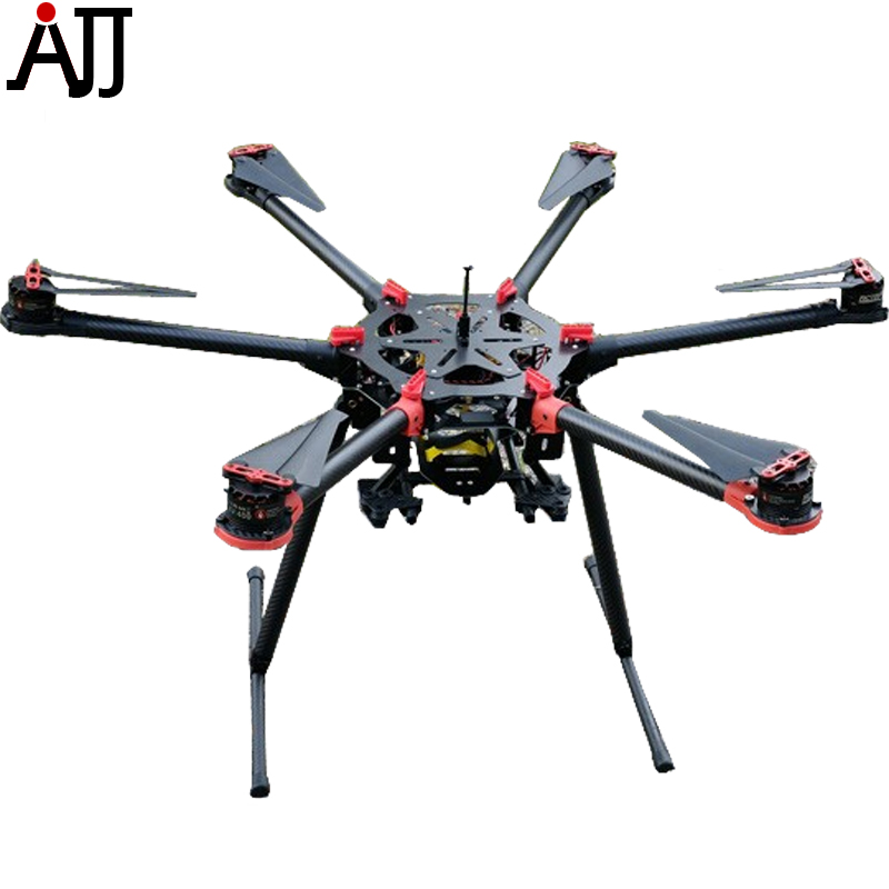 RS900 900mm Aerial Photographer Multi-Rotor Frame Kit w/ Motor ESC Propeller GPS Mount Combo 6-Axis Retractable FPV Multicopter f cloud the new x4110s 400kv 460kv high efficiency long four axis multi rotor uav aerial fpv motor