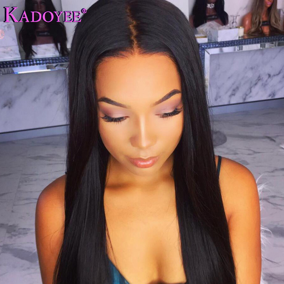 straight human hair lace front wigs for black women (2)
