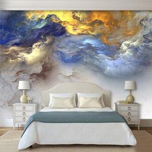 3d абстрактные красочные облачные обои для спальни настенный Декор пейзаж настенные фрески обои с картинками на заказ