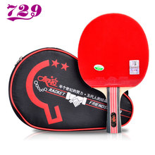 Friendship 729 Original Table Tennis Racket with Rubber + Bag Set Pips-in Ping Pong Bat